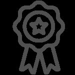 Illustriertes Abzeichen, Icon im Bereich Karriere für Gesundheitsbonus bei AutOptik.
