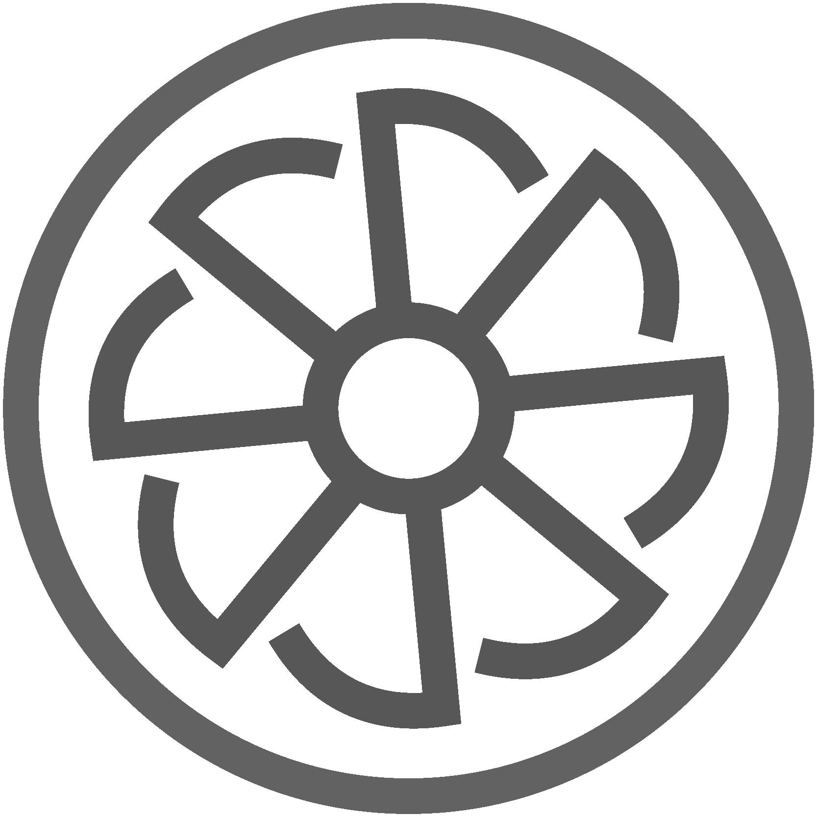 Illustrierte Felge, Icon für Felgenreinigung, Leistungen von AutOptik.