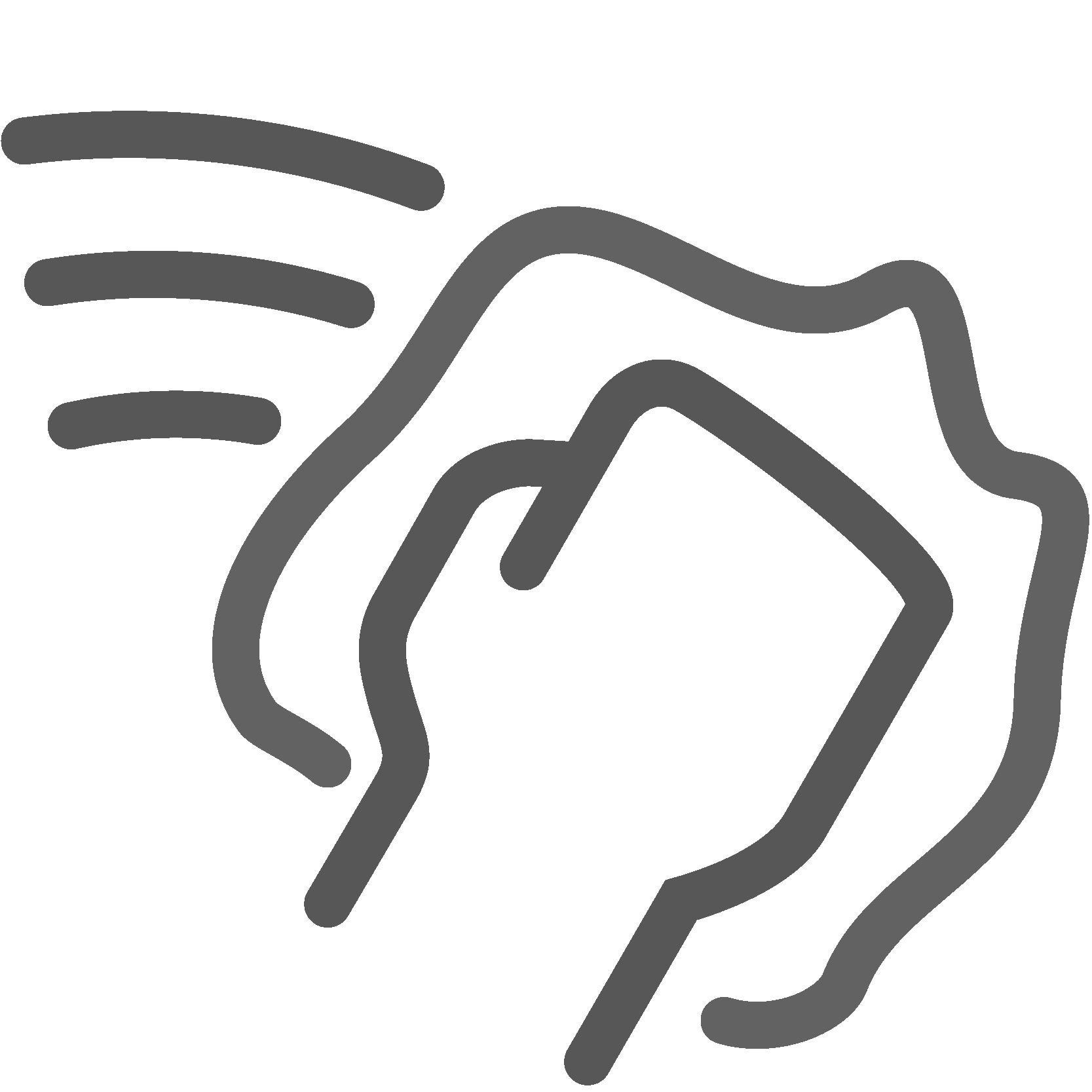 Illustrierte polierende Hand, Icon für Flugrostentfernung, Leistungen von AutOptik.