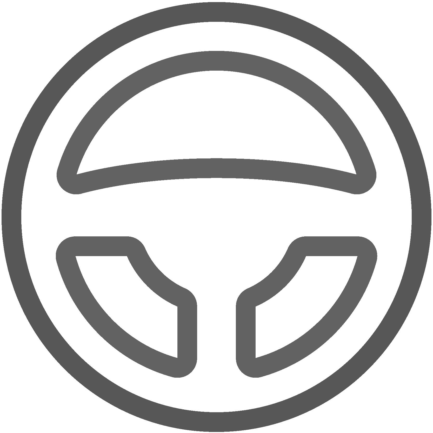 Illustriertes Lenkrad, Icon für Innenraumreinigung, Leistungen von AutOptik.