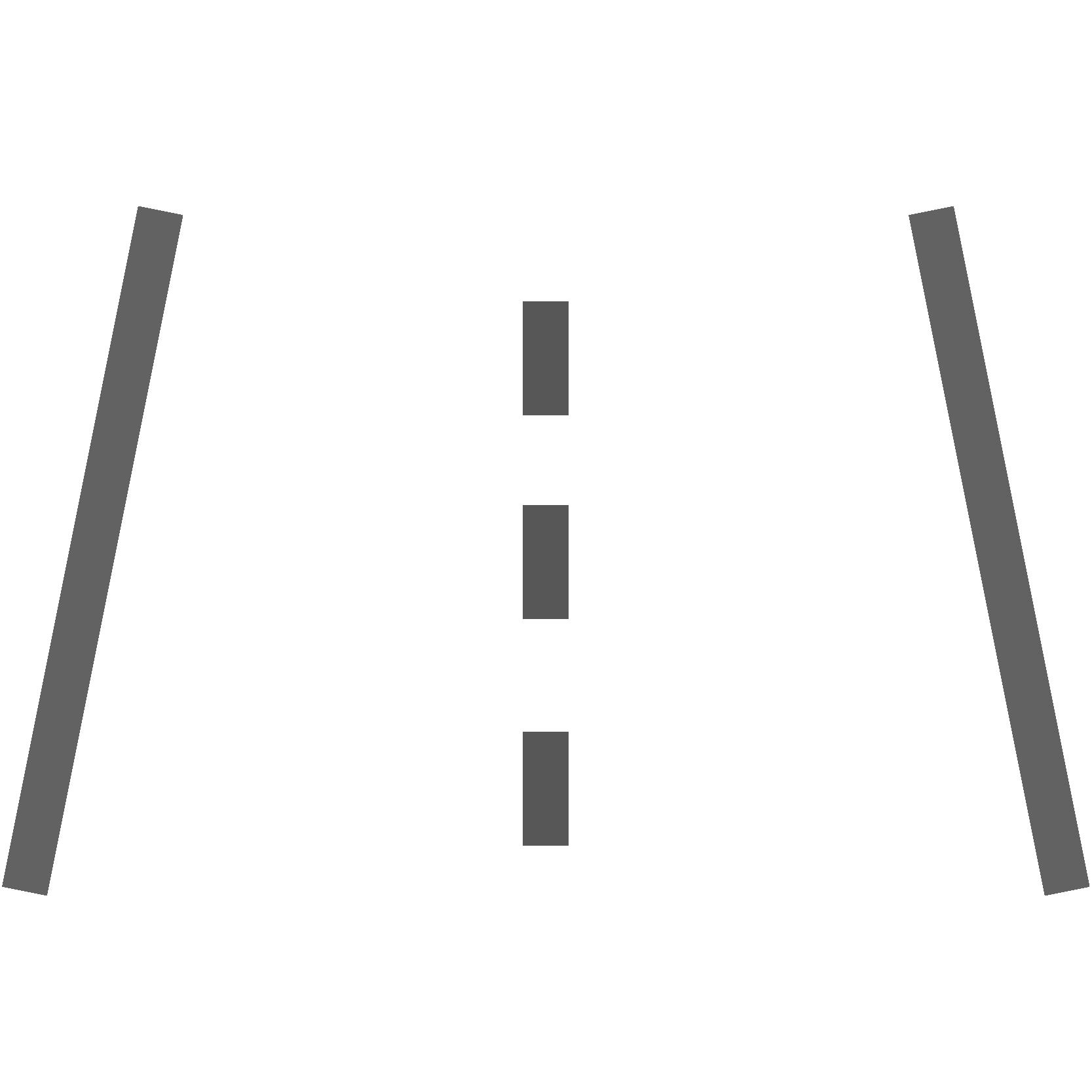 Illustrierte Straße von oben, Icon für Teerentfernung, Leistungen von AutOptik.