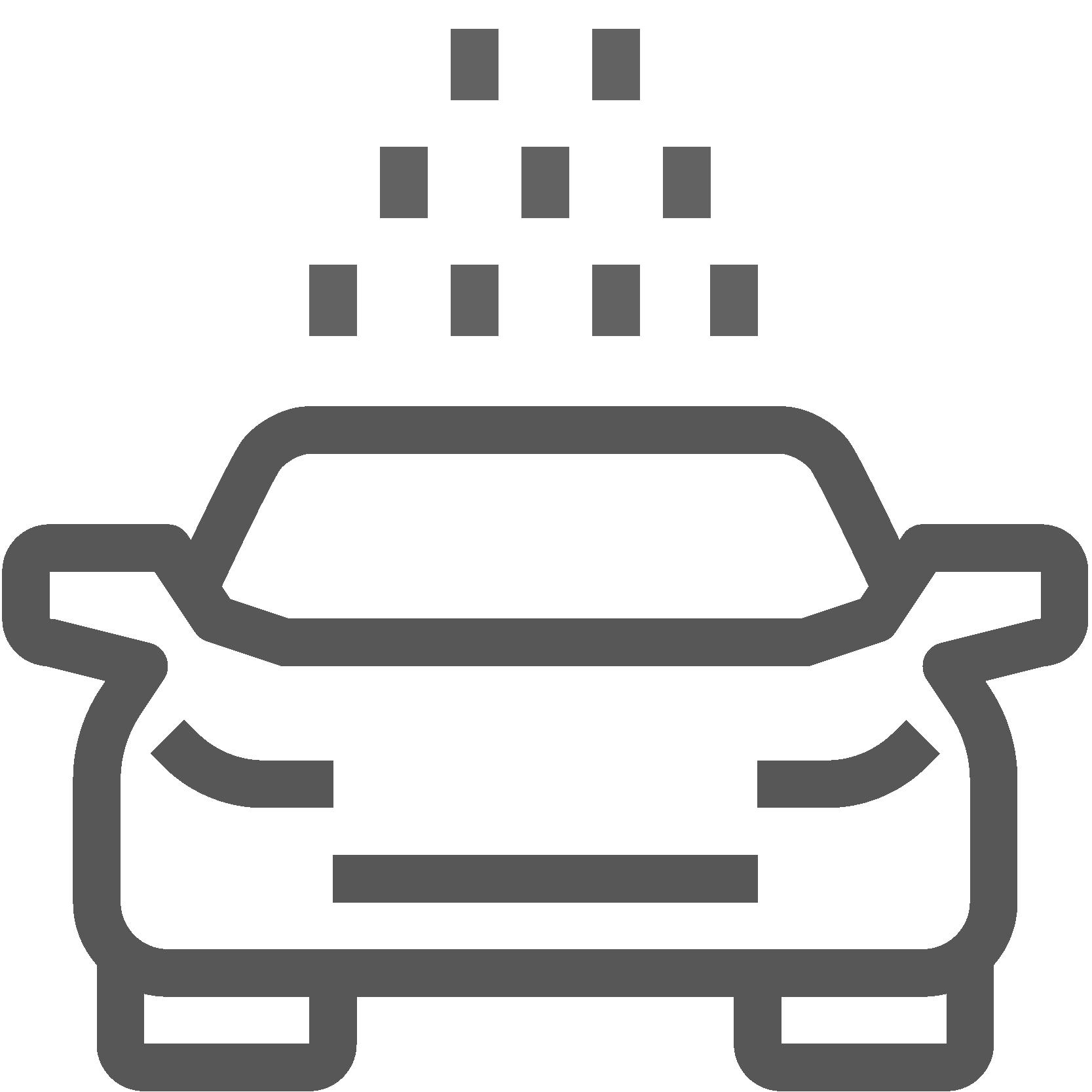 Illustriertes Cabrio, Icon für Verdeckreinigung, Leistungen von AutOptik.